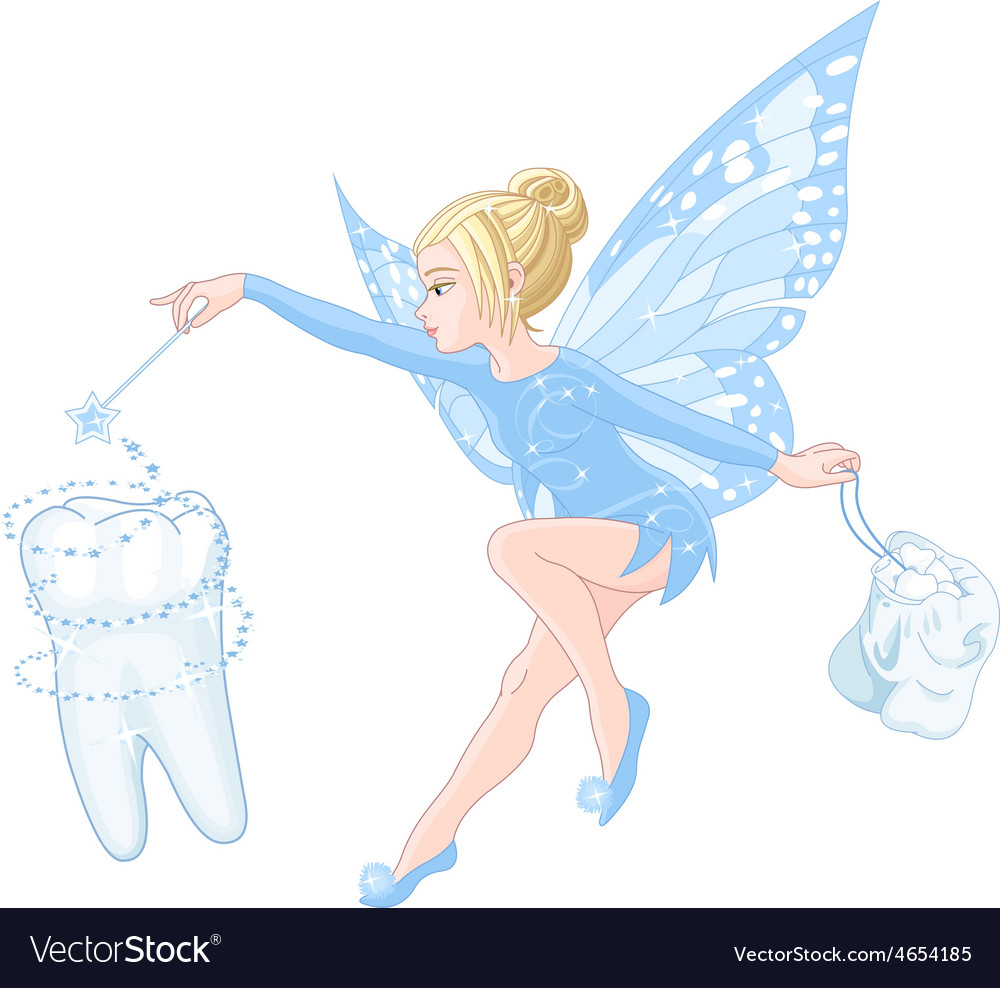 tooth fairy royalty free vector image vectorstock
