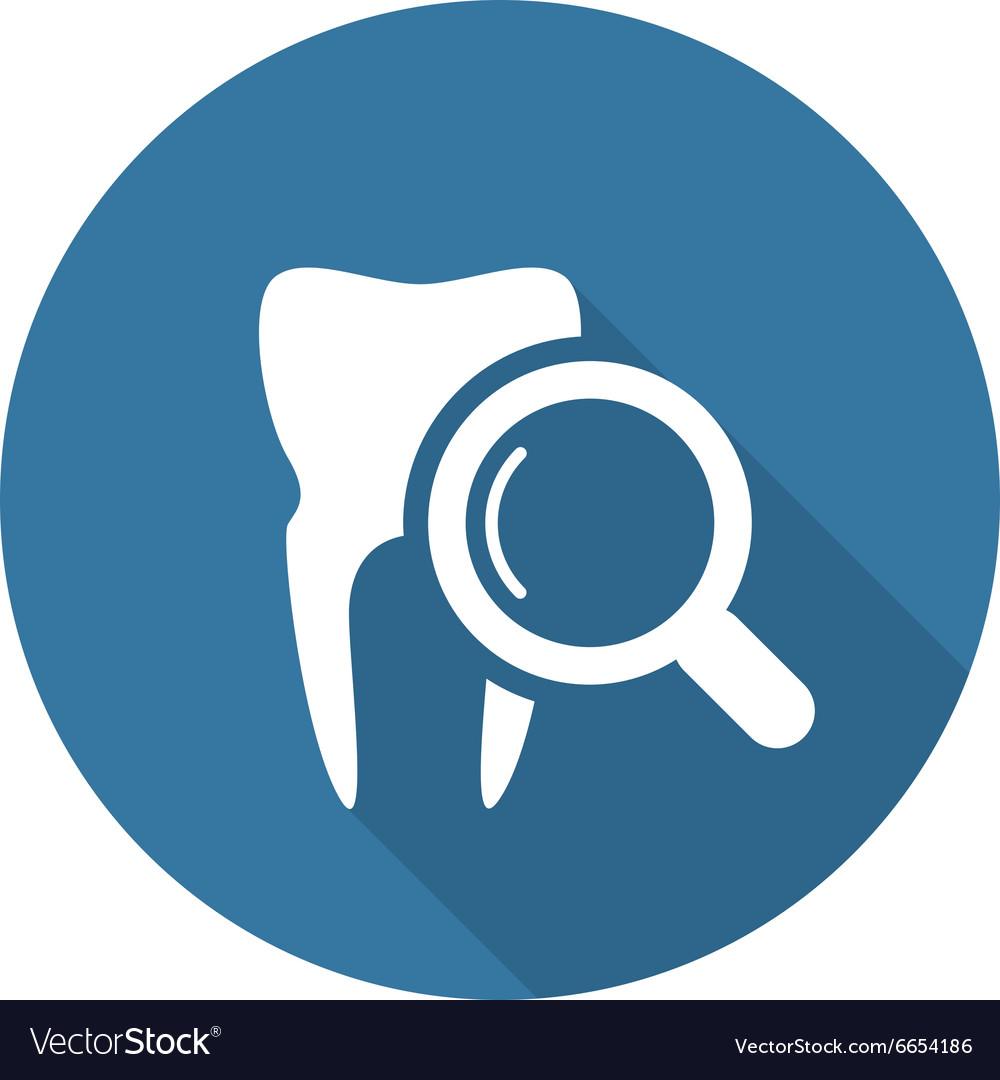 Dental Care Icon Flat Design vector image