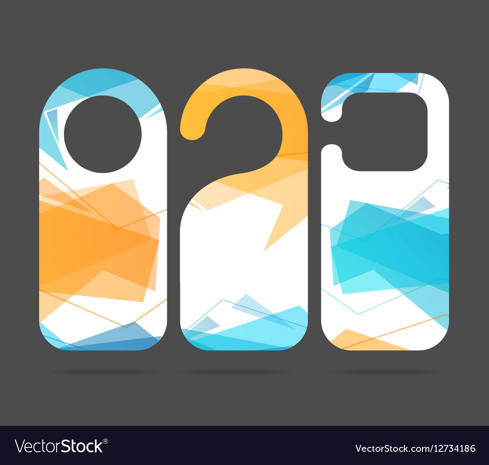 Hotel Door Labels Set vector image  sc 1 st  VectorStock & Hotel Door Labels Set Royalty Free Vector Image