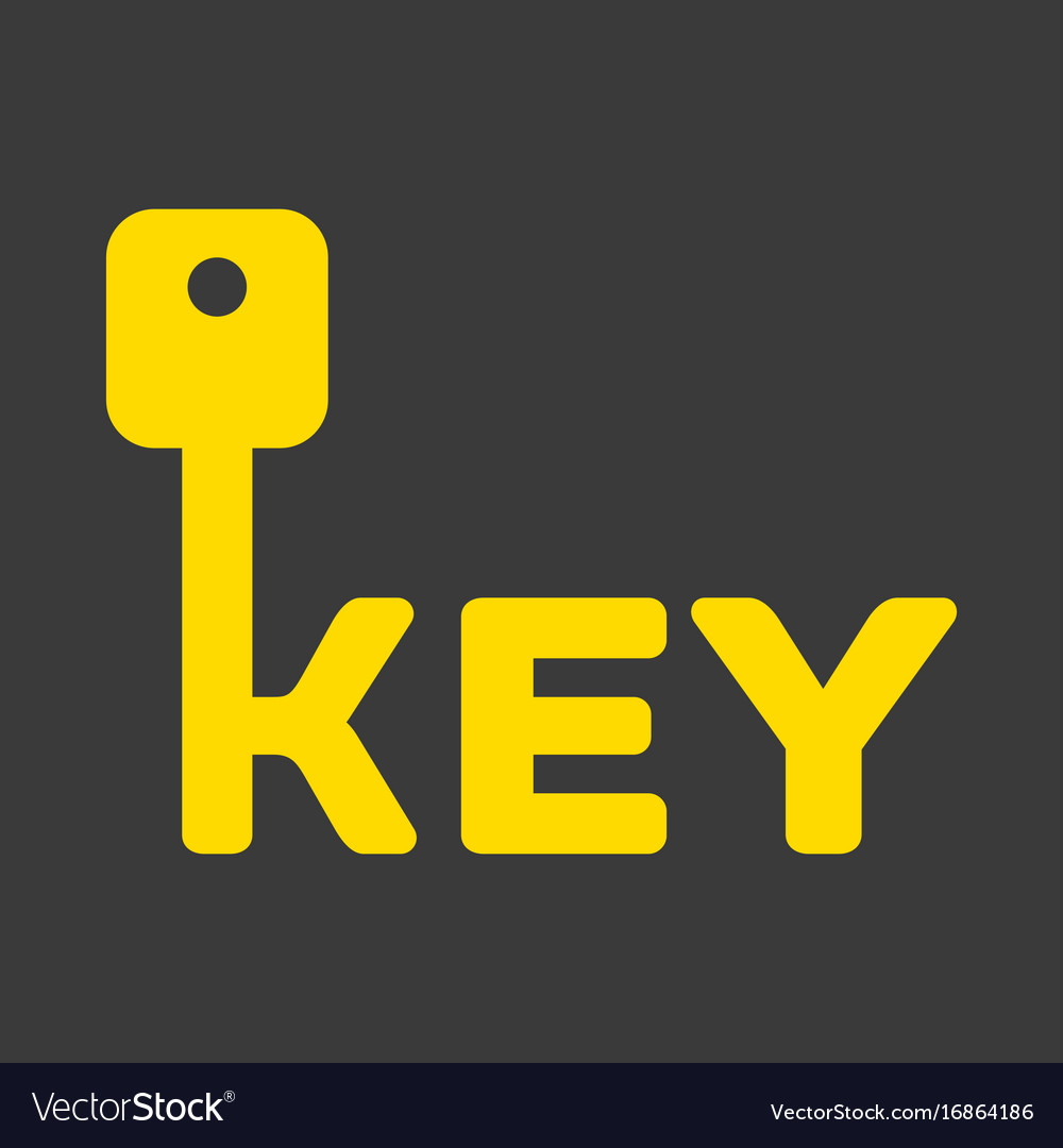 Key logo with letter k vector image