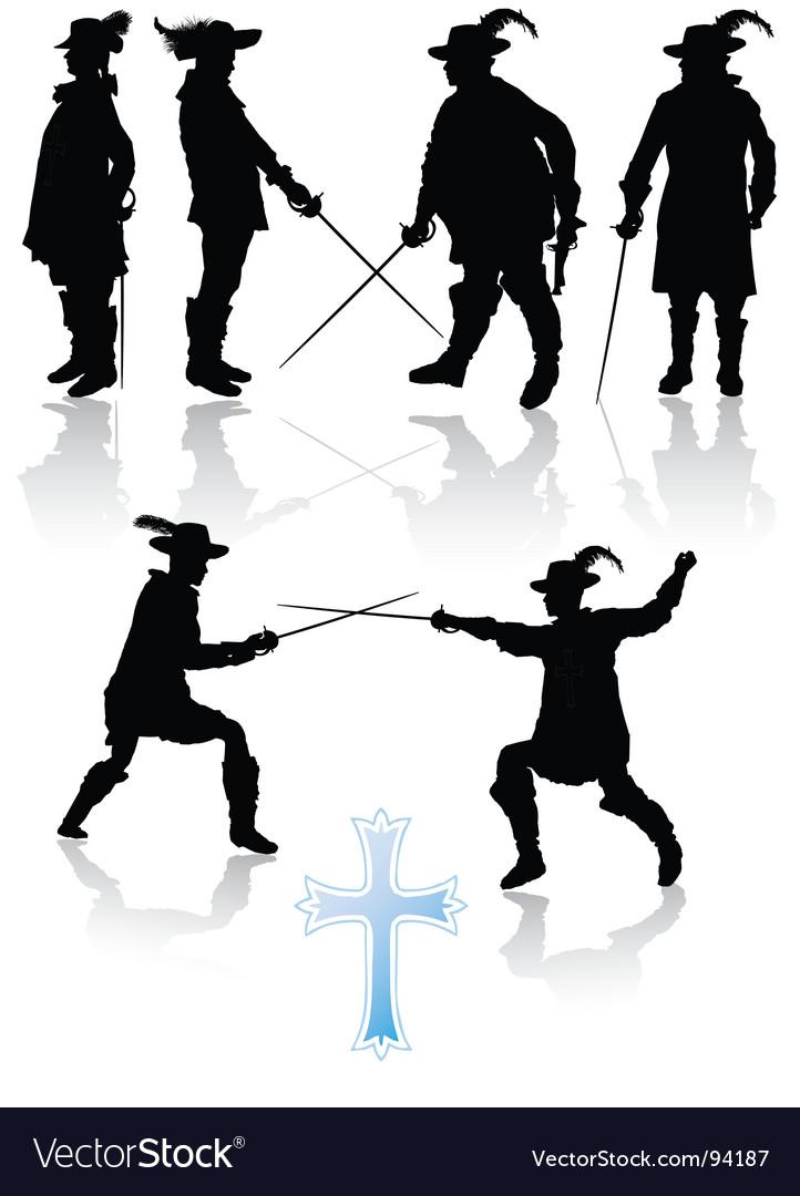 Royal musketeers vector image