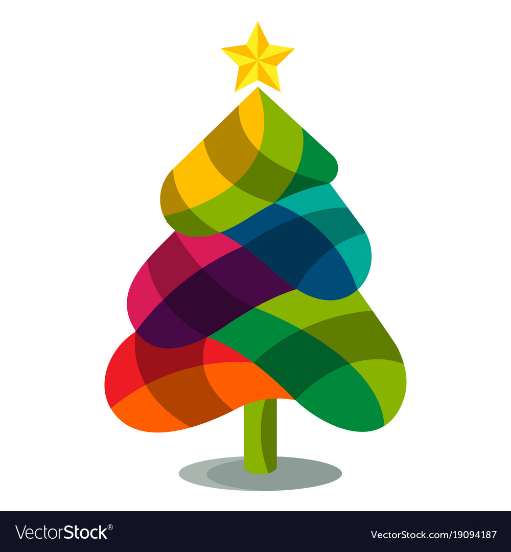 Colorful christmas trees Royalty Free Vector Image