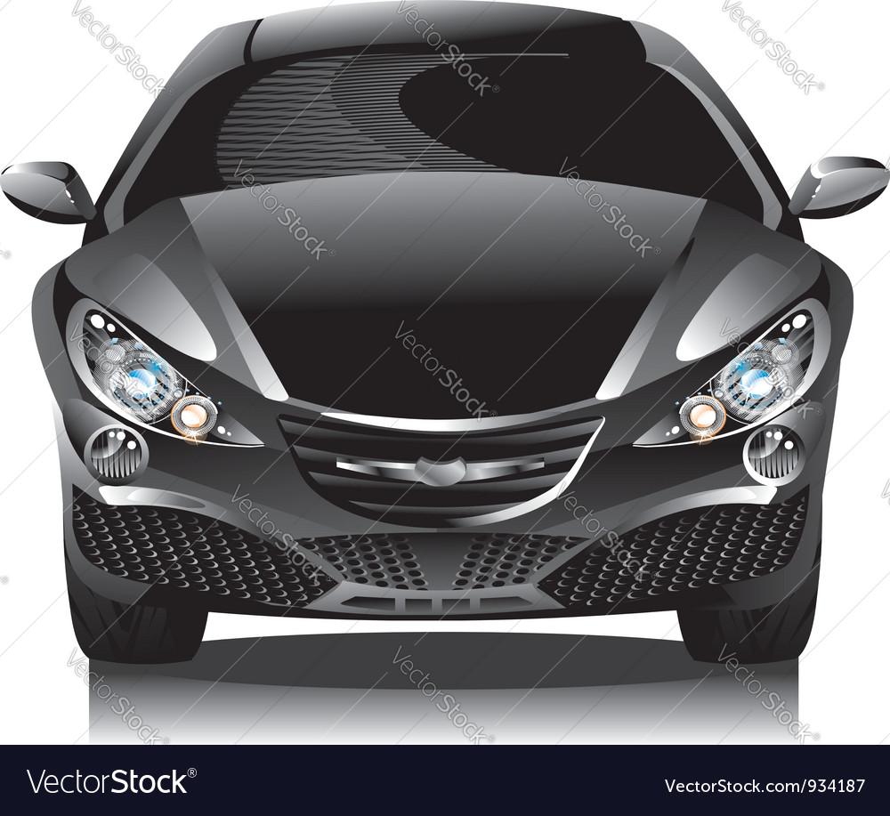 Concept car - sedan vector image