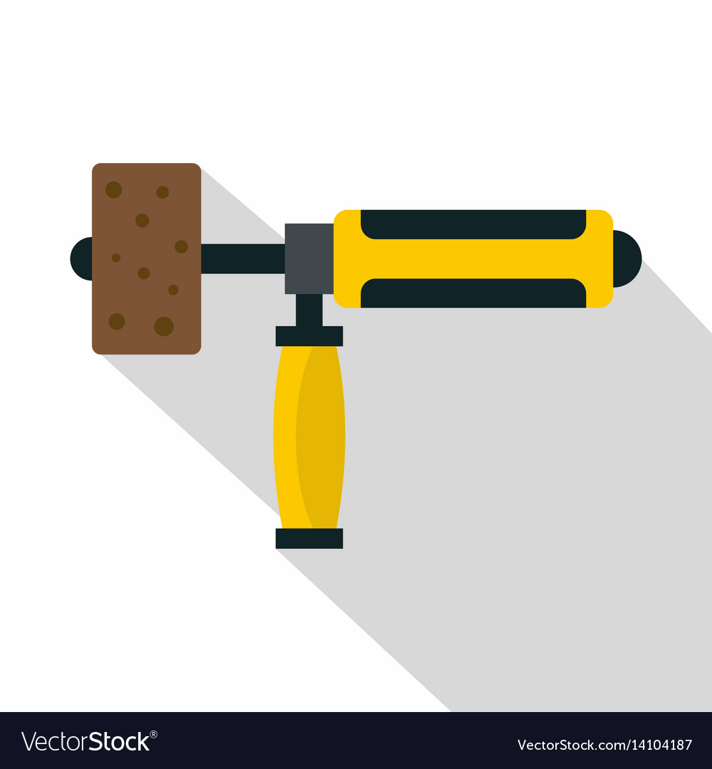 Precision grinding machine icon flat style vector image