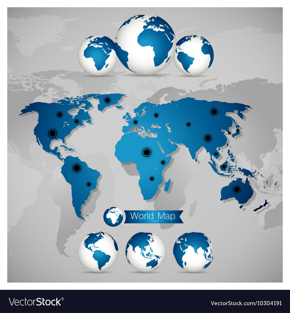World map and globe royalty free vector image vectorstock world map and globe vector image gumiabroncs Image collections