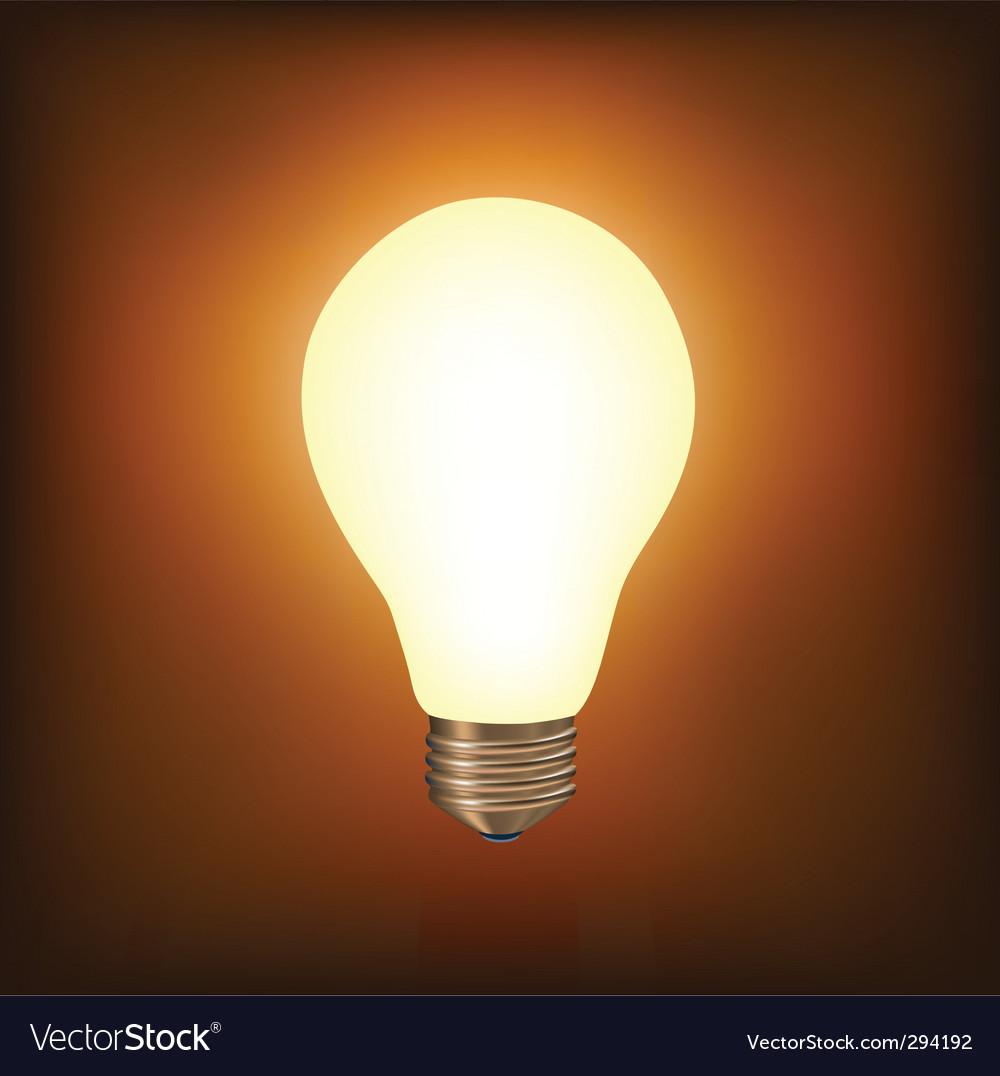 Light bulb vector image