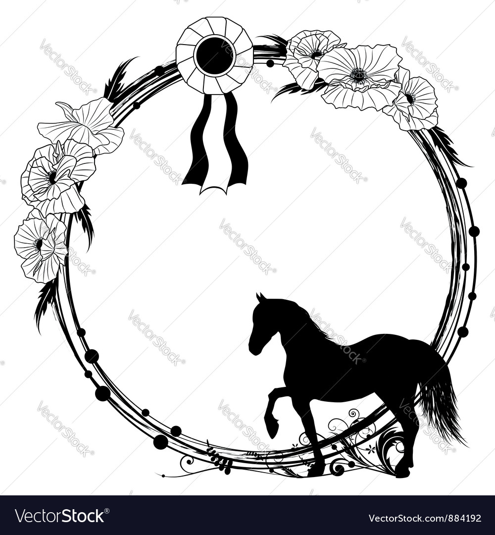 horse frame royalty free vector image   vectorstock