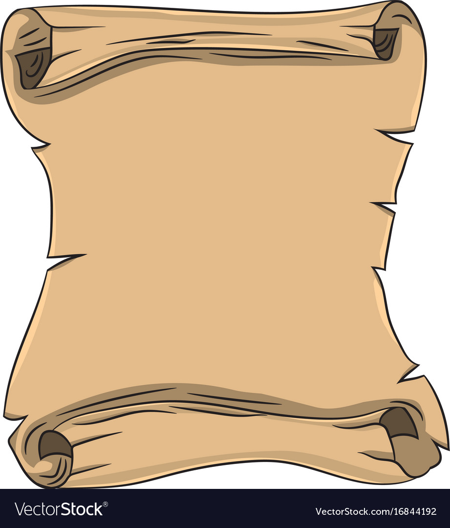 Scroll Drawing: Old Scroll Drawing By Hand Royalty Free Vector Image
