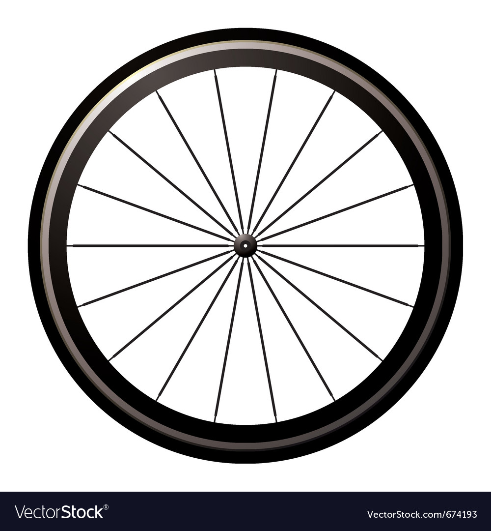 Aerodynamic front road wheel Vector Image