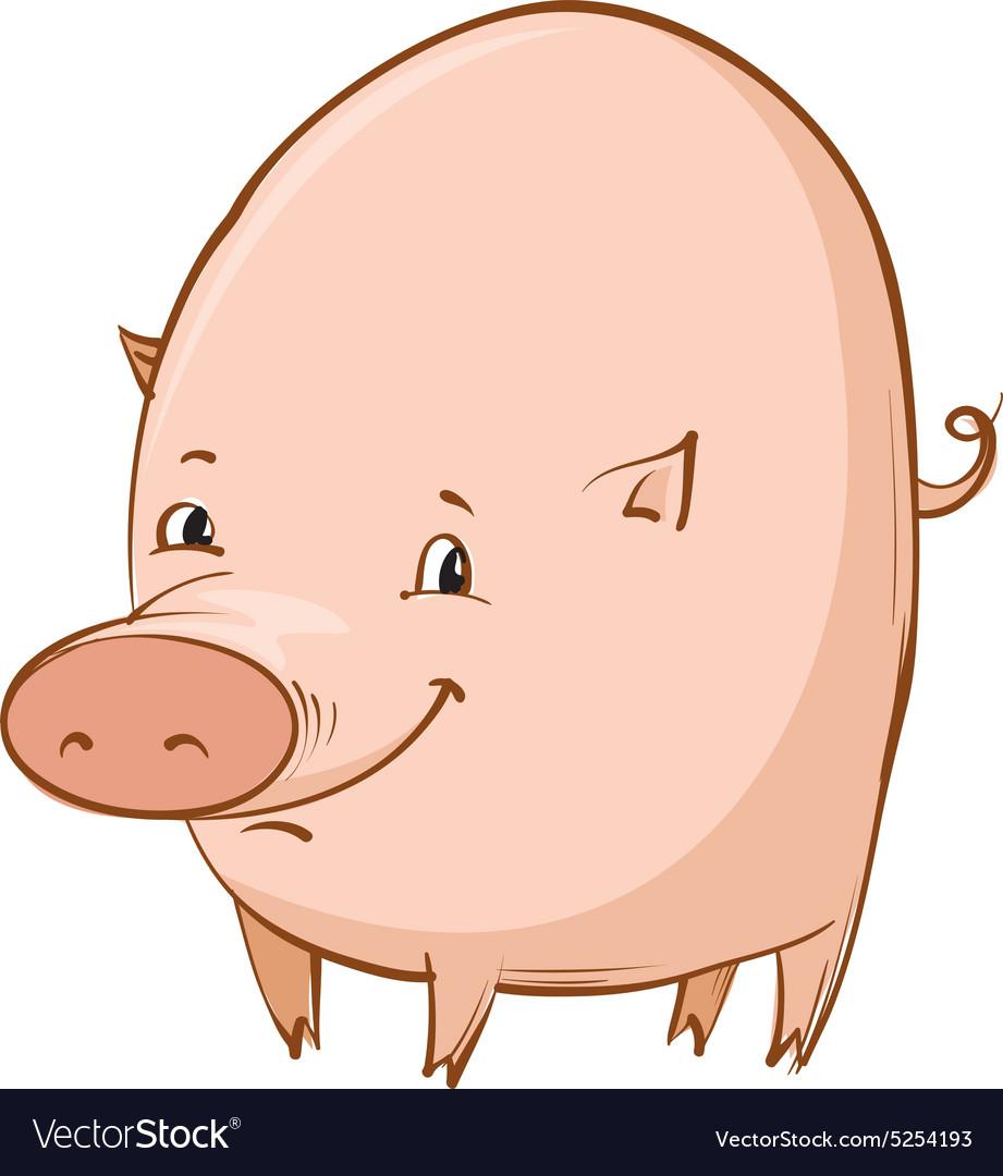 Cartoon piglet vector image