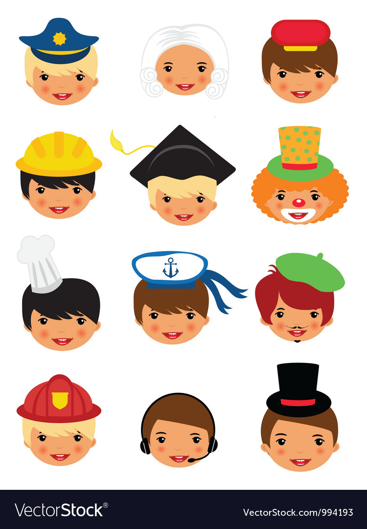 Professional occupations icons vector image