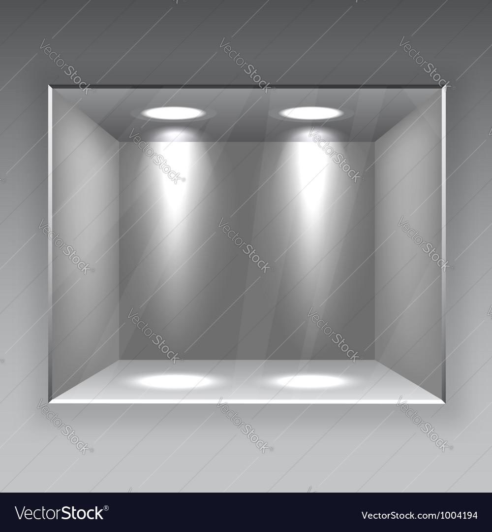 Empty Store Shelf Vector Image