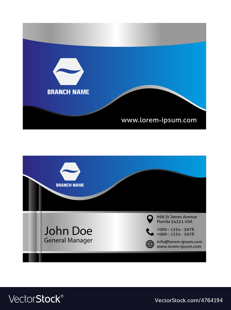 Abstract blue business cards royalty free vector image abstract blue business cards vector image reheart Images
