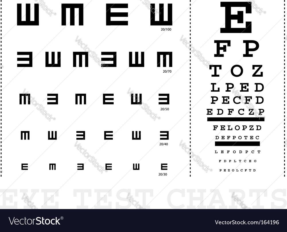 snellen eye test charts Vector Image
