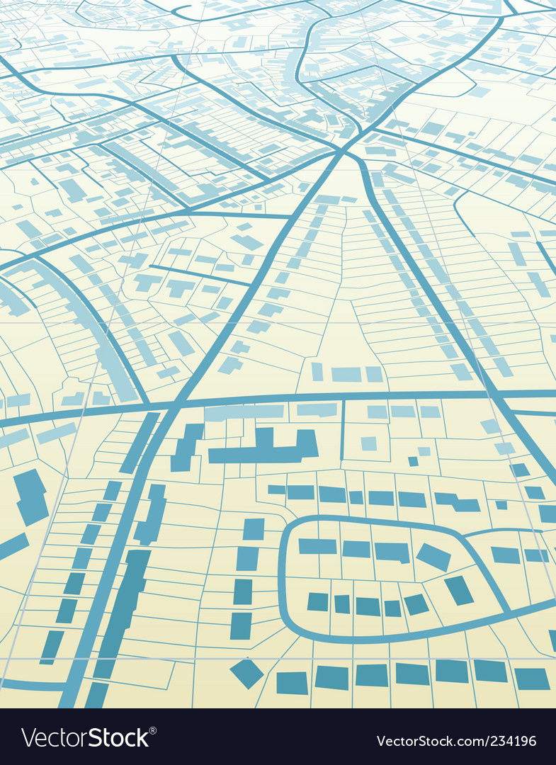 Blue town vector image