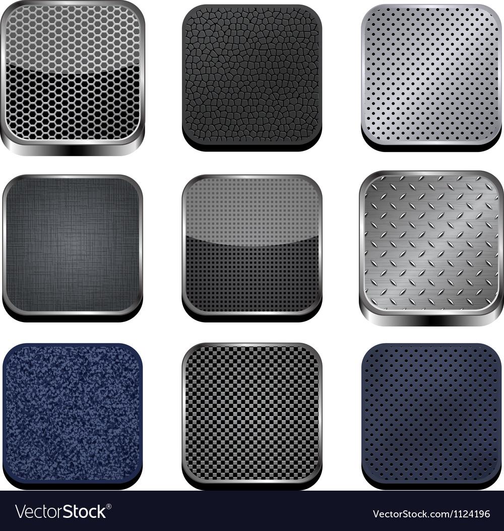 Textured apps vector image
