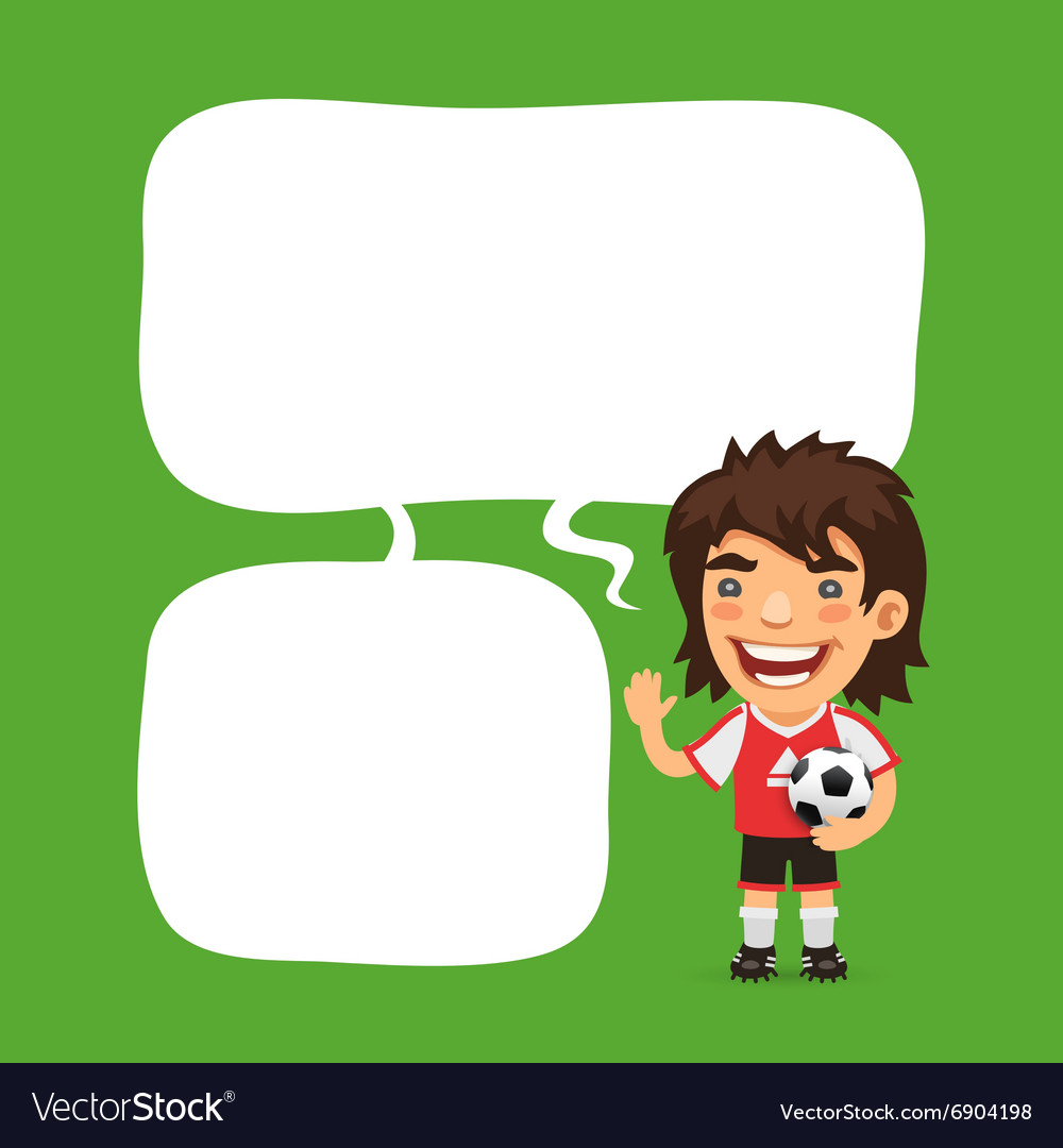 Soccer Player Speech Bubble vector image