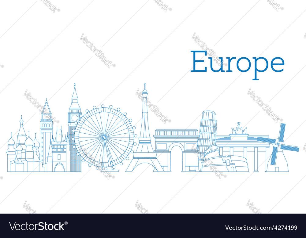 Europe skyline vector image