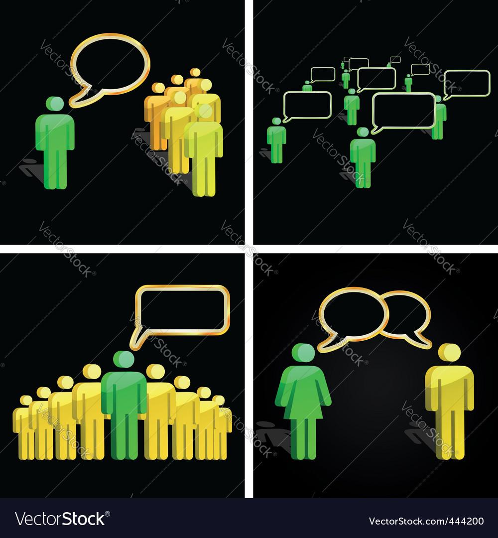 Speech concept vector image