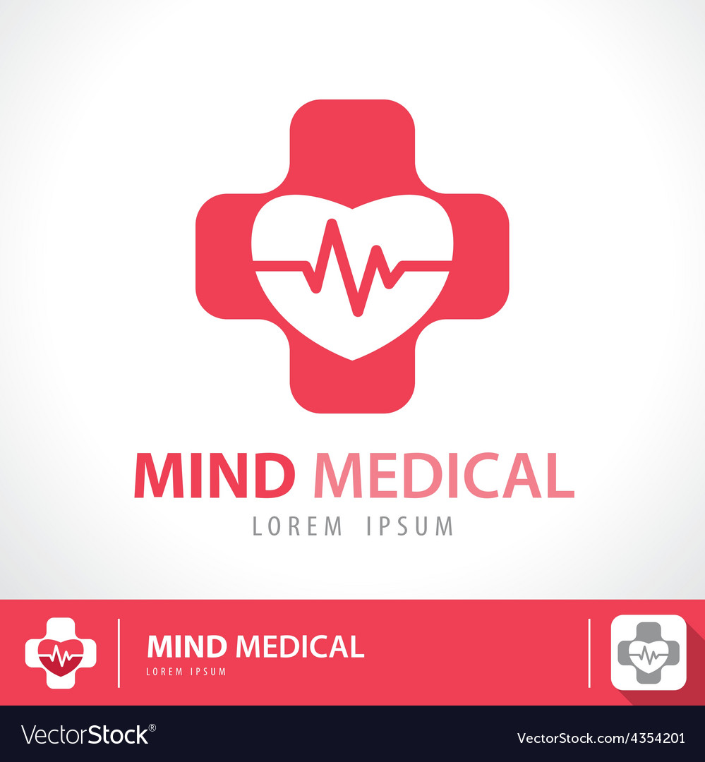 Mind medical symbol icon vector image
