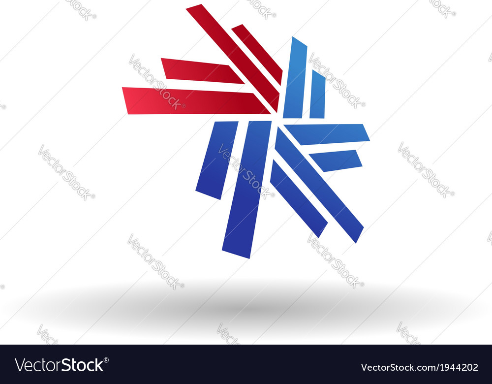Abstract snowflake symbol vector image