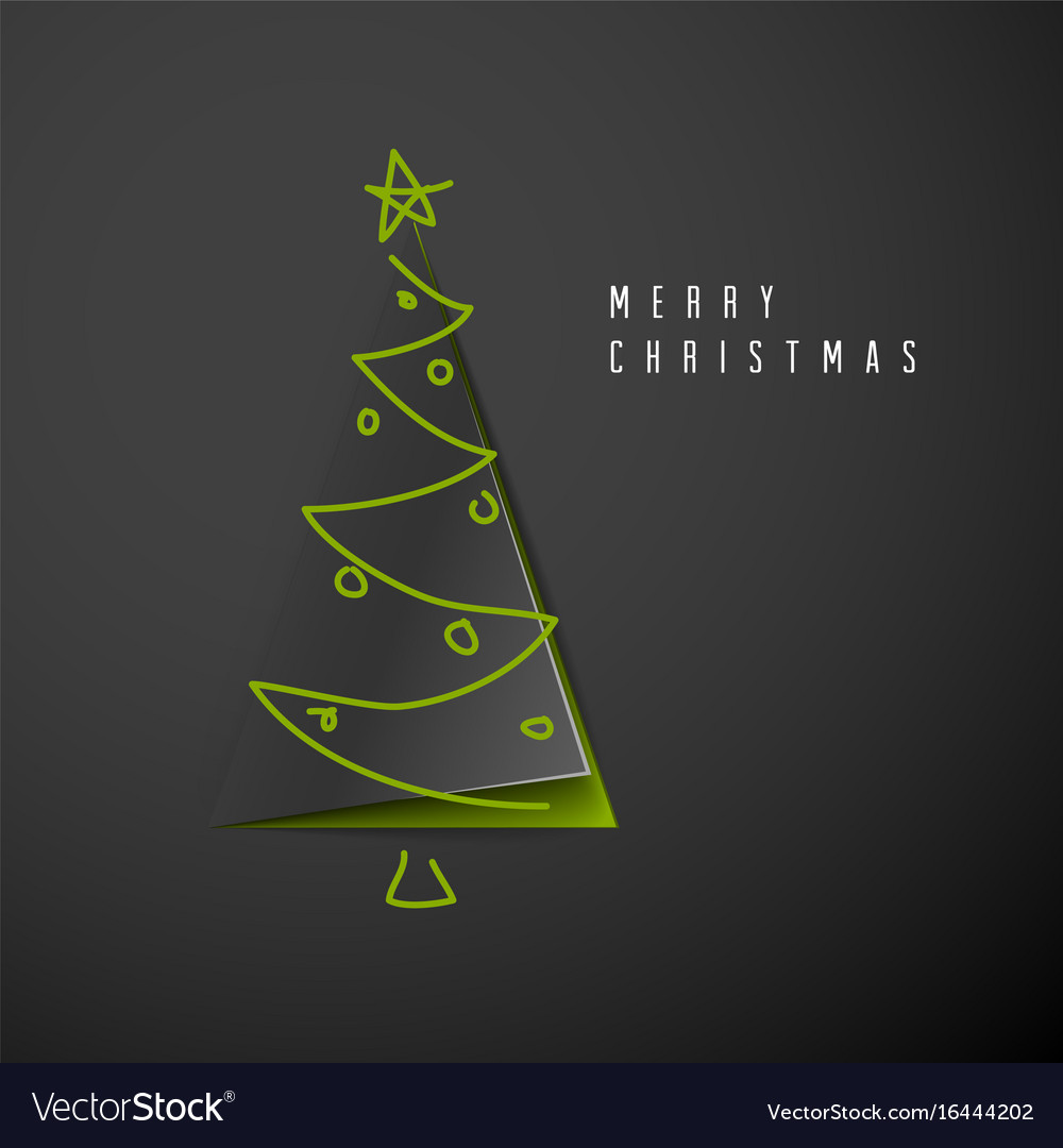 Minimalistic merry christmas card vector image