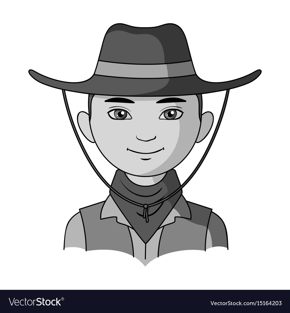 Amnricanianhuman race single icon in monochrome vector image