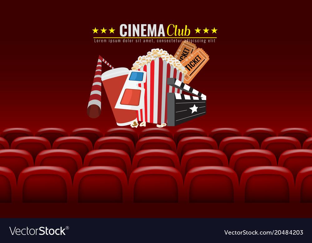 Movie cinema premiere poster design vector image