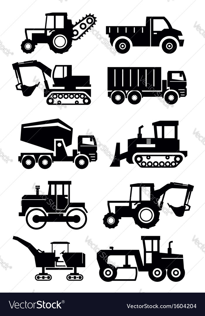 Construction transport vector image