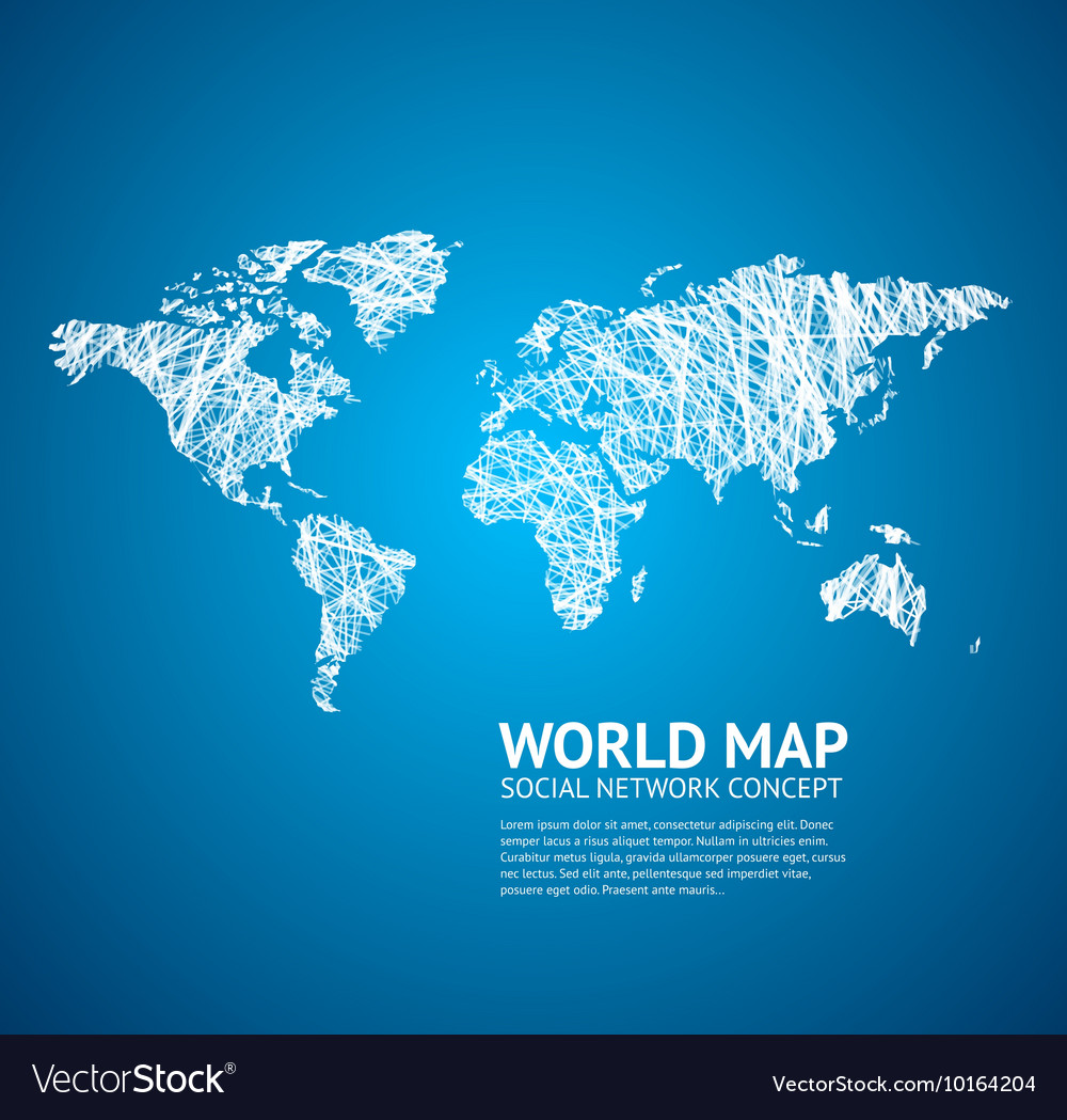 World map stylize royalty free vector image vectorstock world map stylize vector image gumiabroncs Image collections