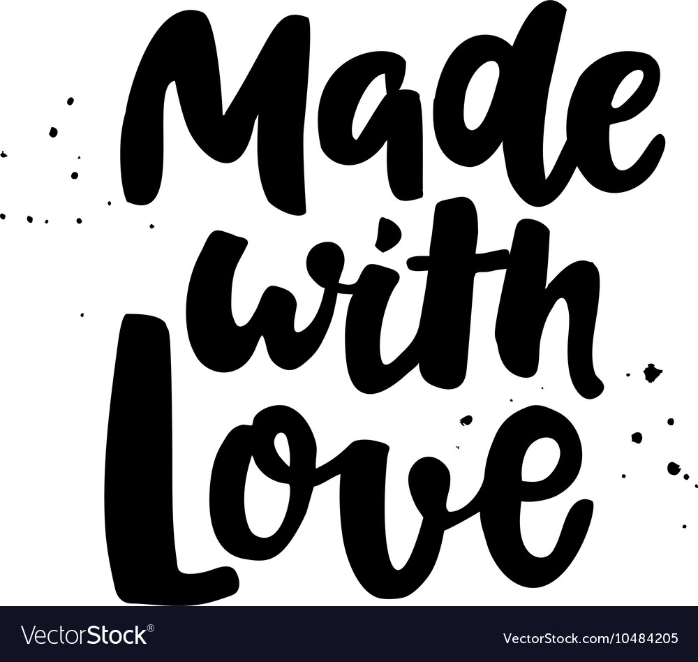 Made with loveModern style phrase vector image