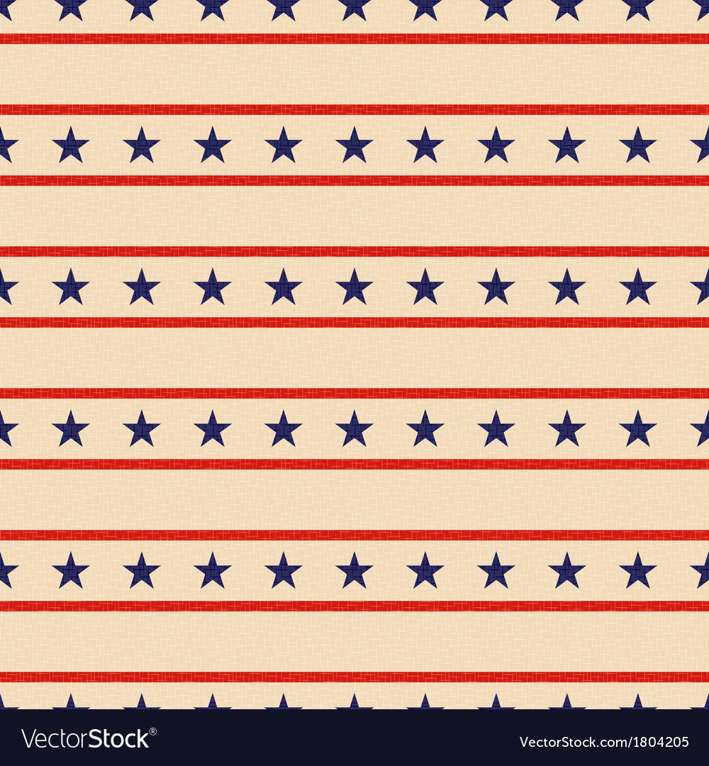 Seamless patriotic stars background vector image