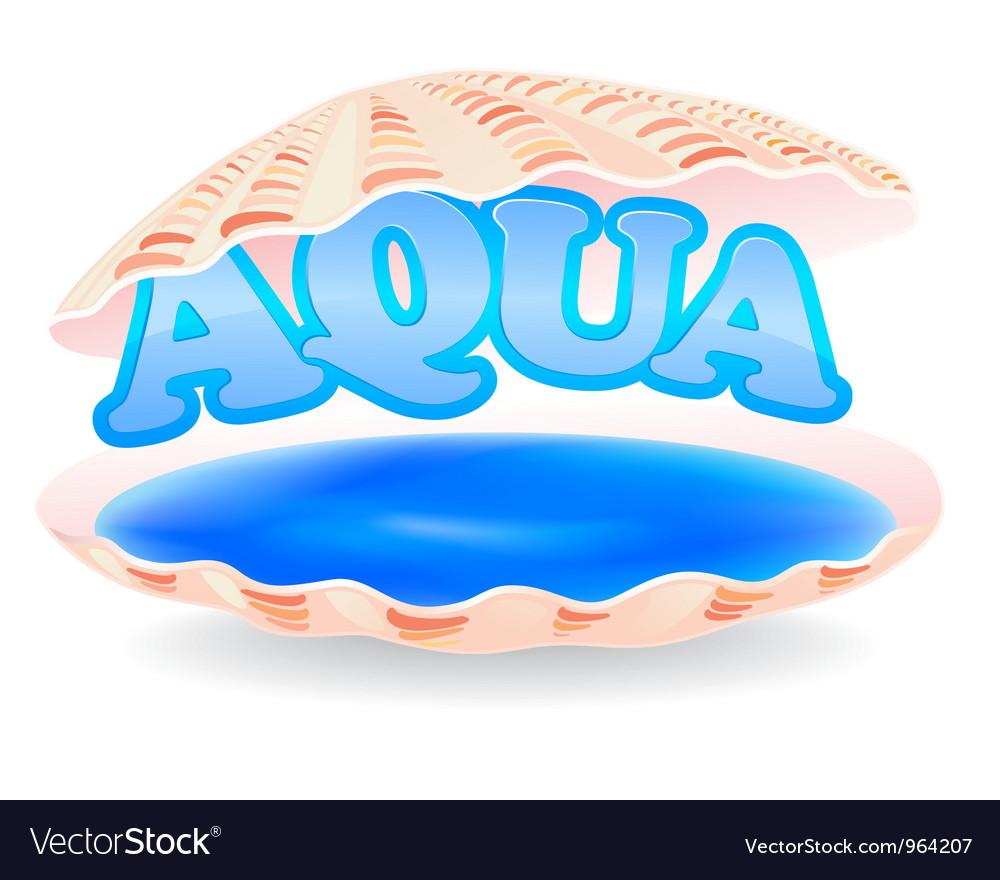 Aqua shell vector image