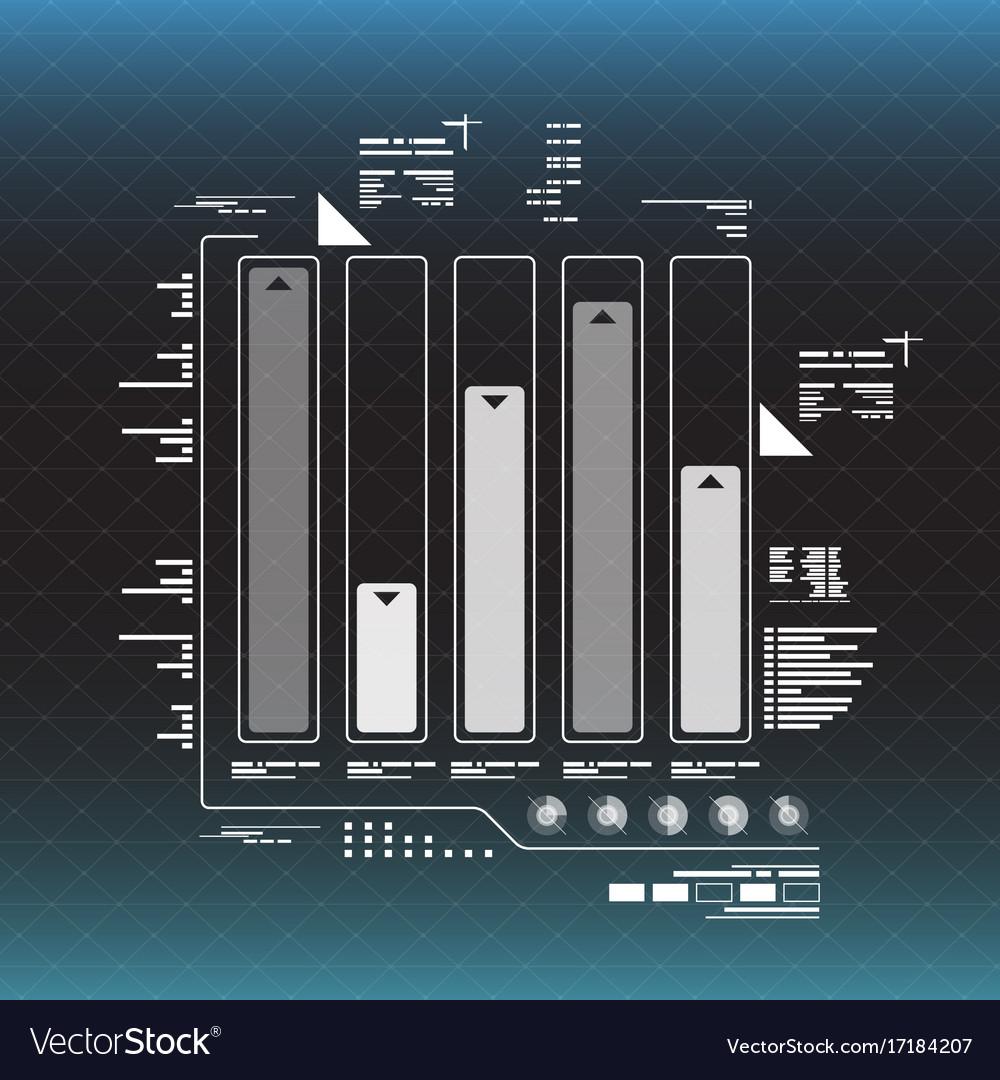 Info graphic elements futuristic user interface vector image