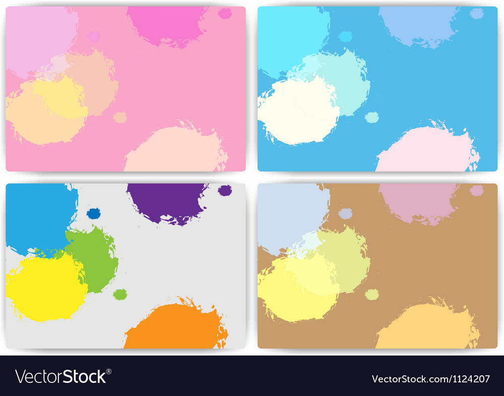 Set texture of colorful set vector image