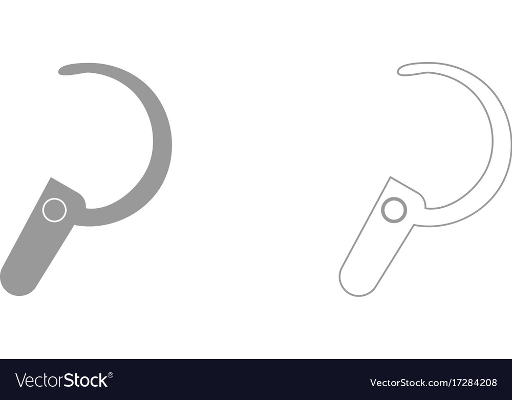 Headset it is icon vector image