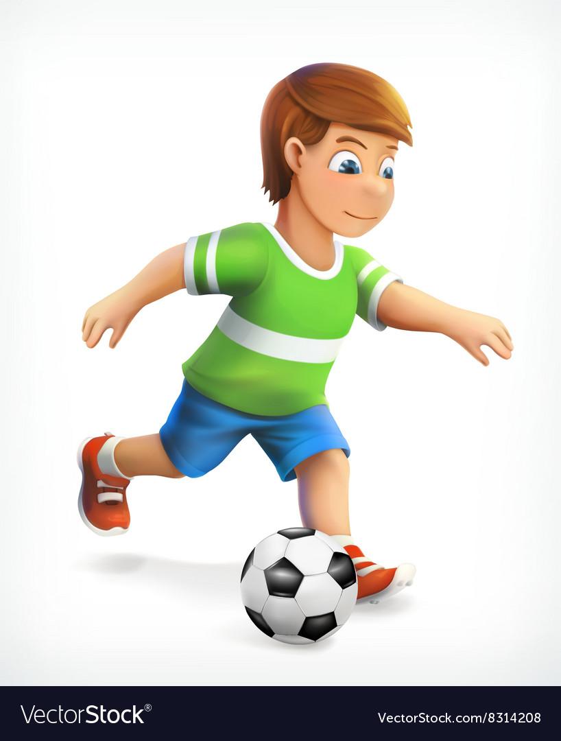 Little football playe vector image
