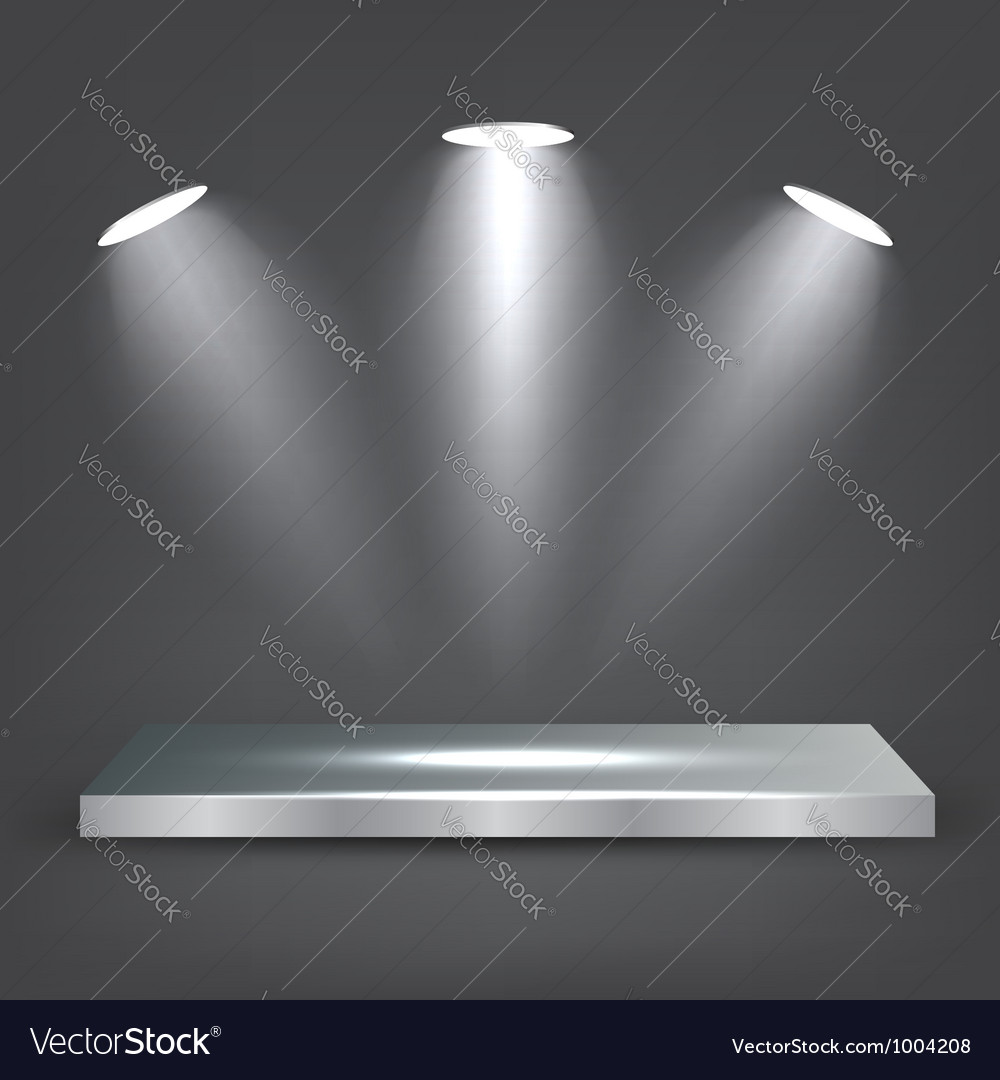 Metal Shelf vector image