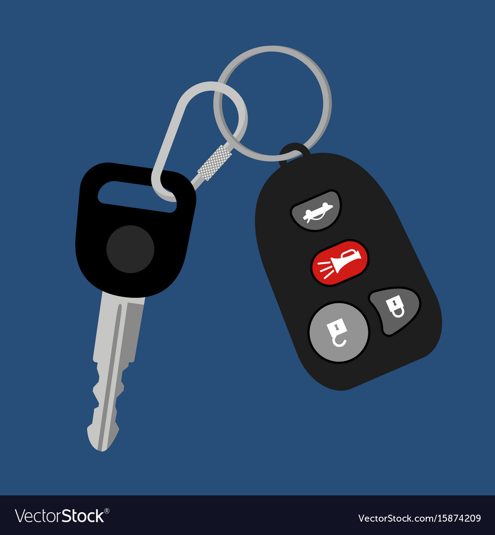 Car key with auto access padlock vector image