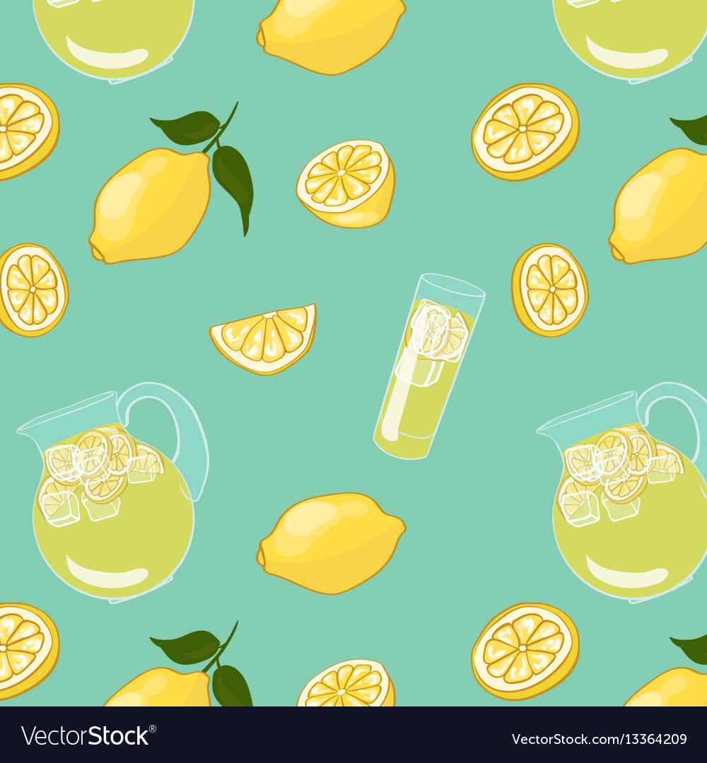Colorful summer drink background vector image