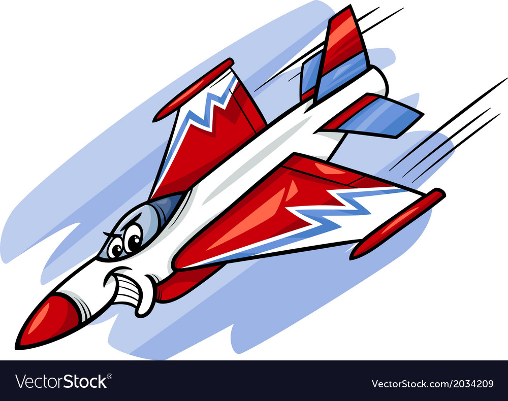 Jet fighter plane cartoon vector image