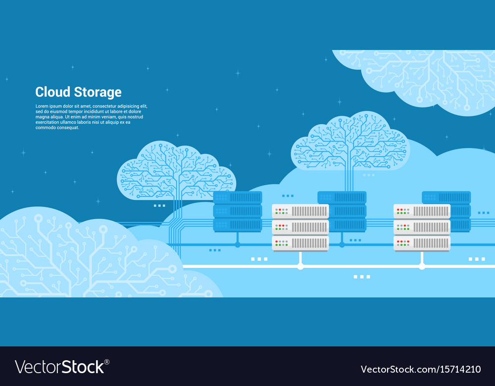 Cloud storage concept vector image