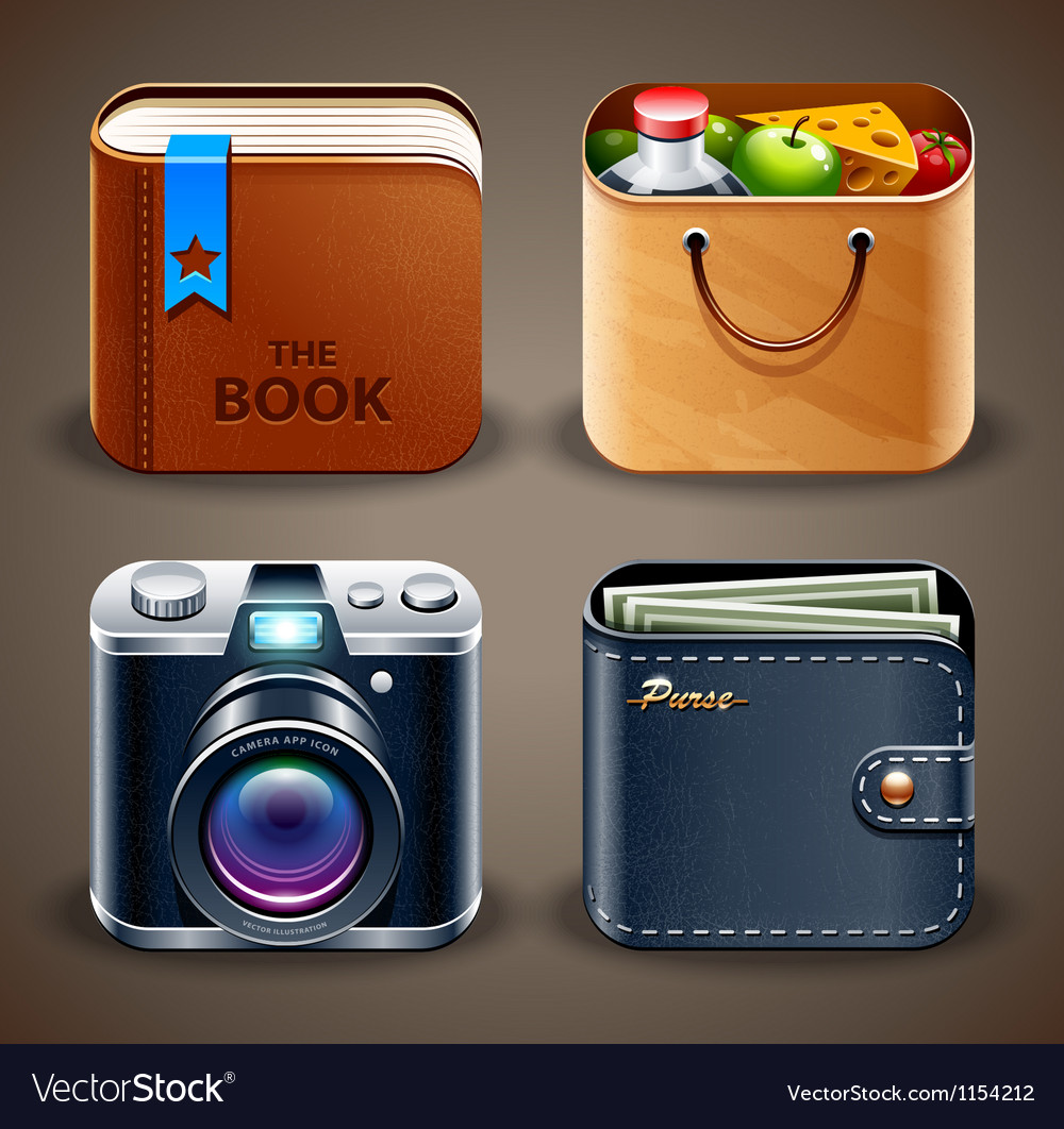 High detailed apps icons Vector Image