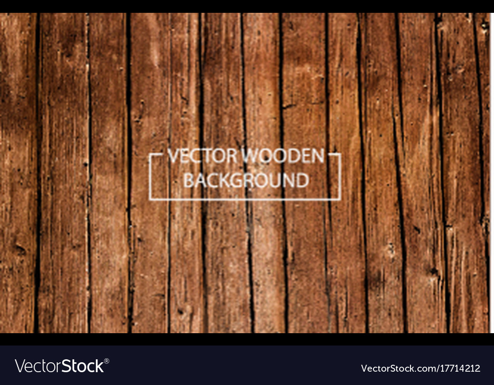 Wooden background brown wood planks vector image