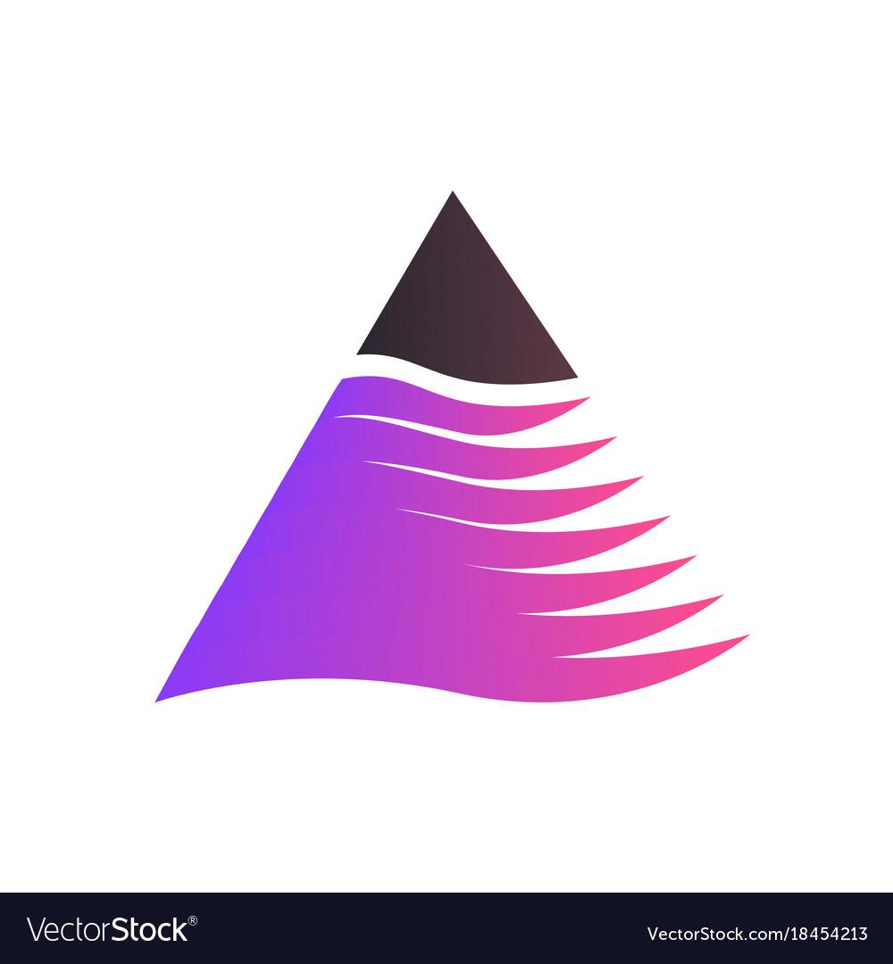 Triangle logo isolated on white background vector image