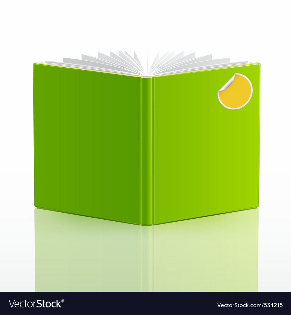 Blank open book template vector image