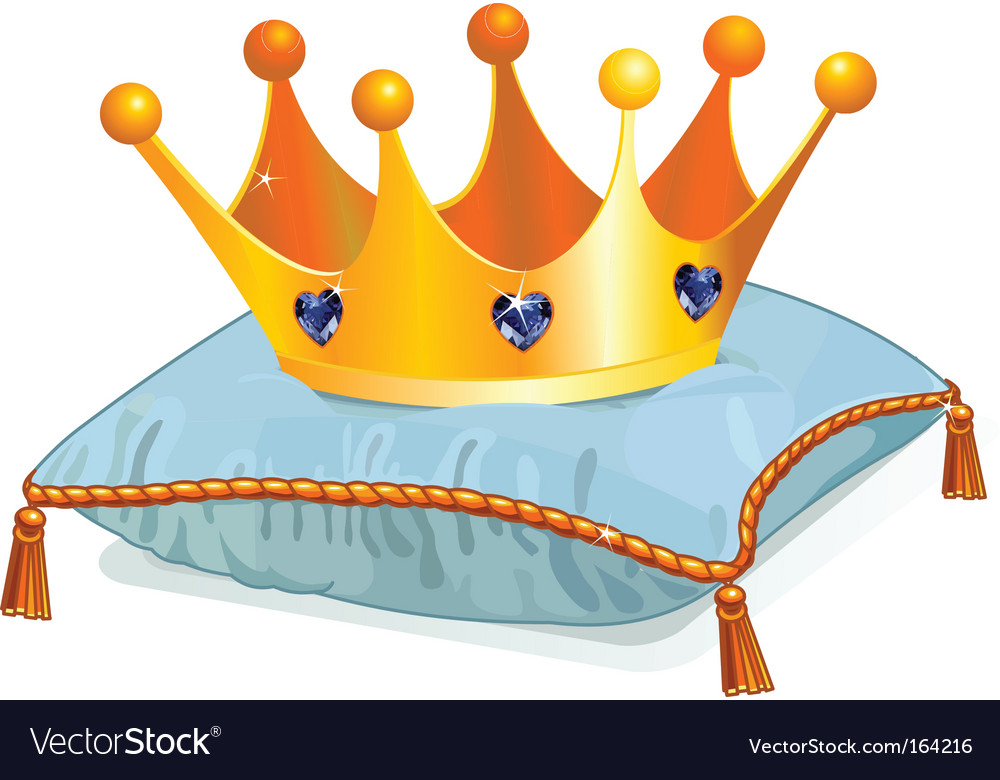Queens crown on the pillow vector image