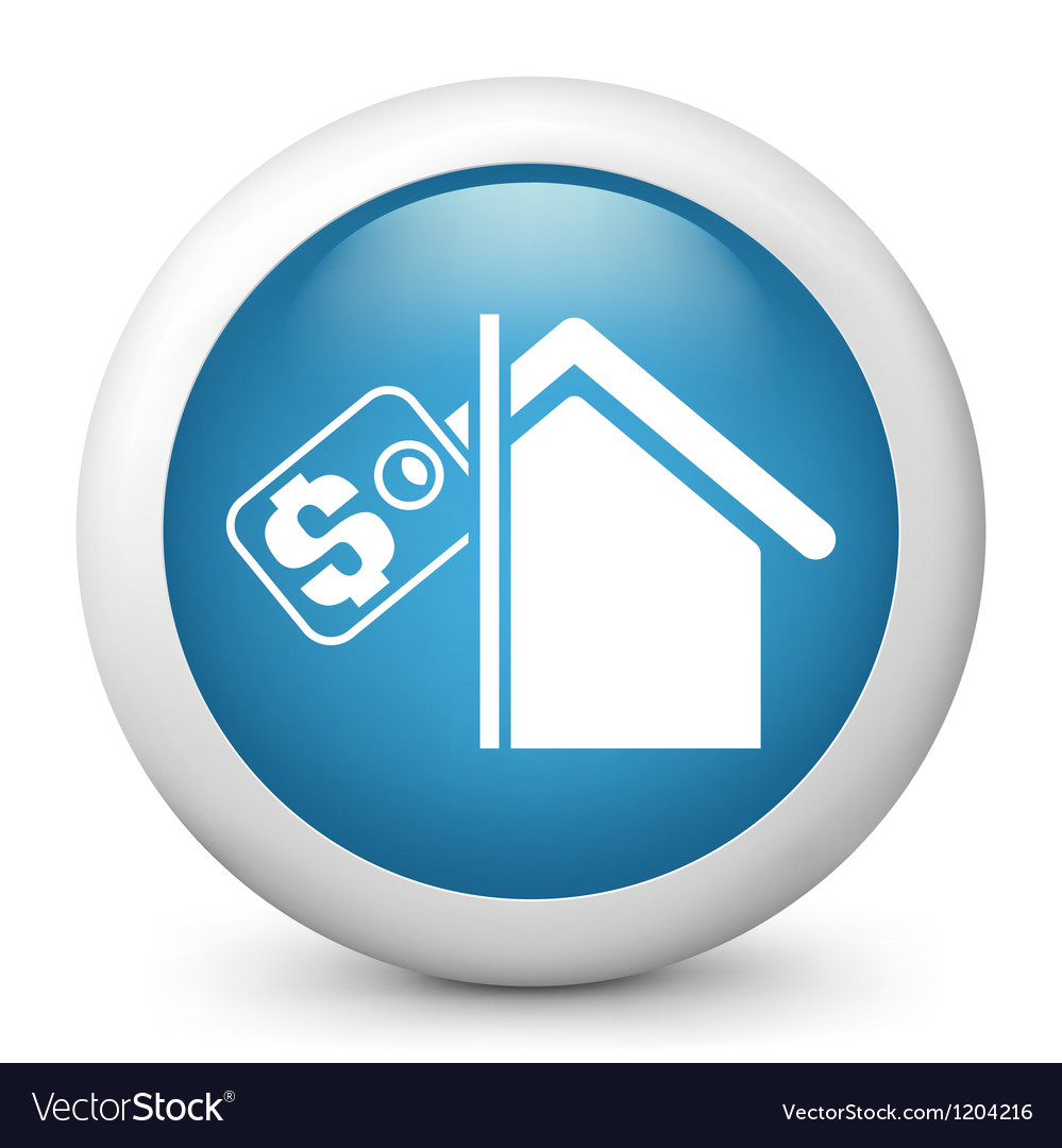 Real Estate Glossy Icon vector image