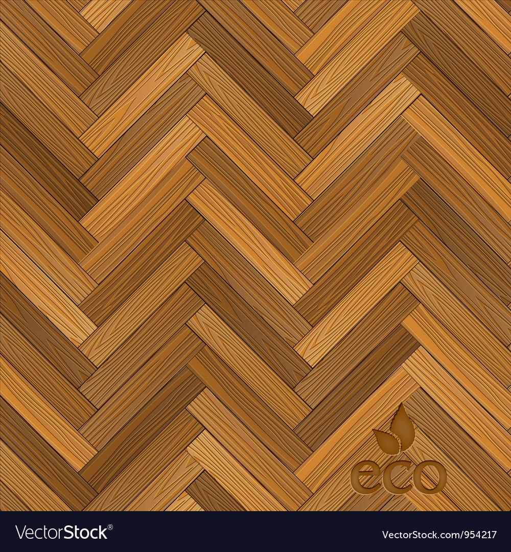 Wood parquet floor vector image