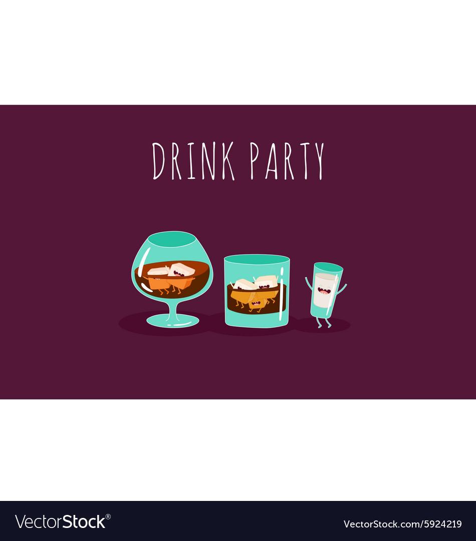 Brandy whiskey vector image